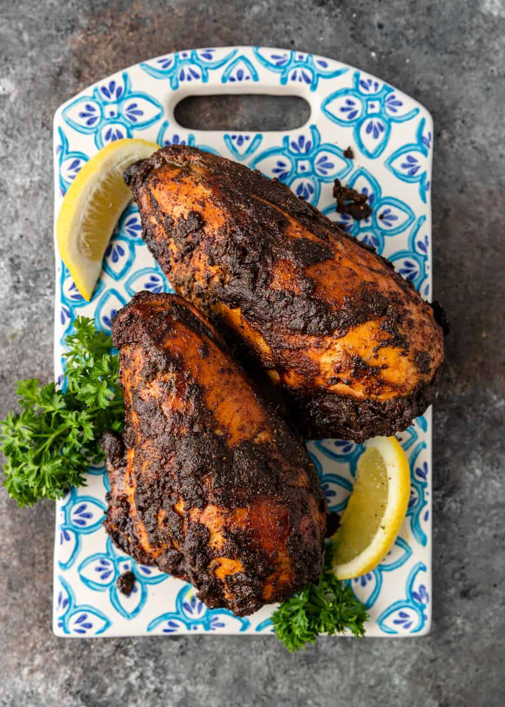 grilled middle eastern spiced chicken breasts