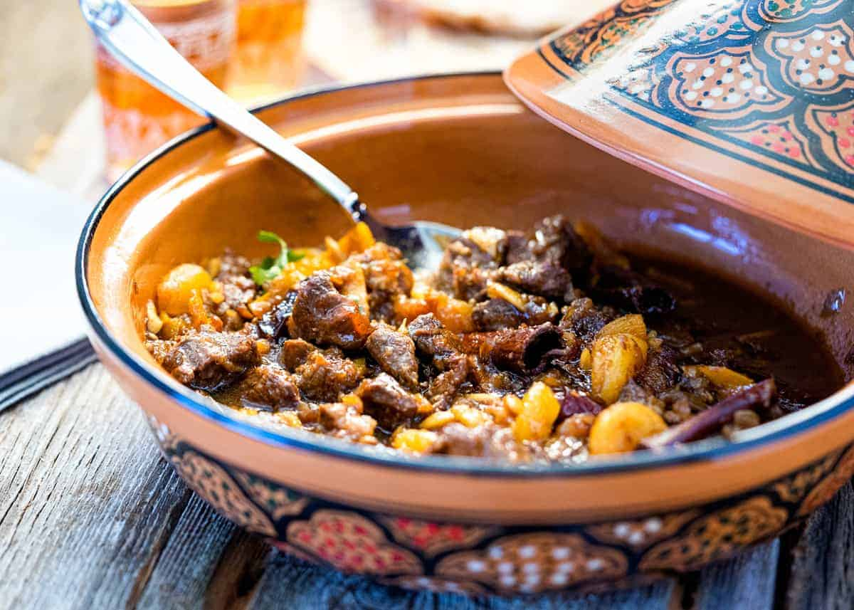 African stew in a tagine