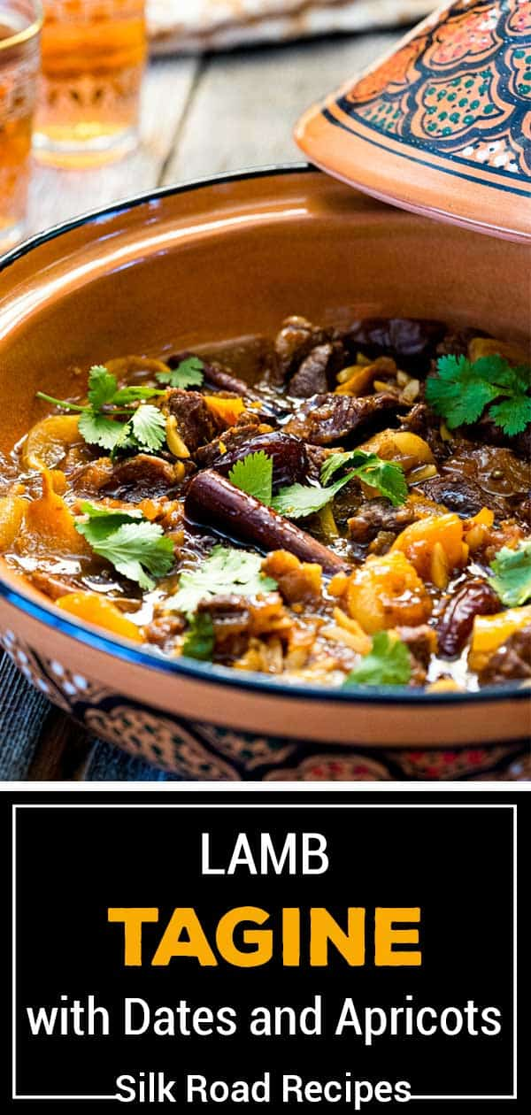 titled image (and shown): Lamb Tagine with Dates and Apricots - Silk Road Recipes