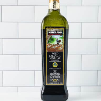 balsamic vinegar on white table top