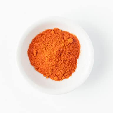 paprika in small white bowl
