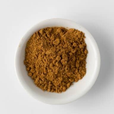 ras el hanout in small white bowl