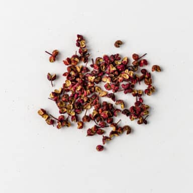 one of the most common Chinese spices, pink sichuan peppercorns