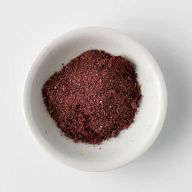 sumac in small white bowl