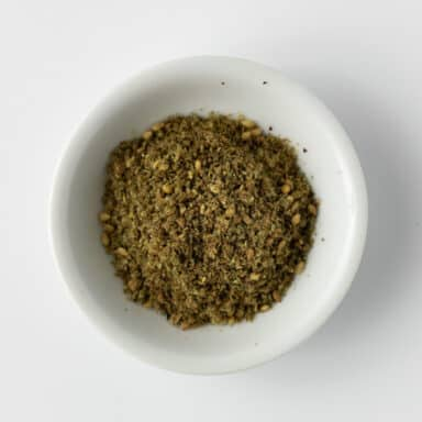zaatar in small white bowl