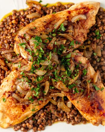 overhead: berbere chicken and lentils