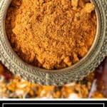 berbere spice in brass bowl