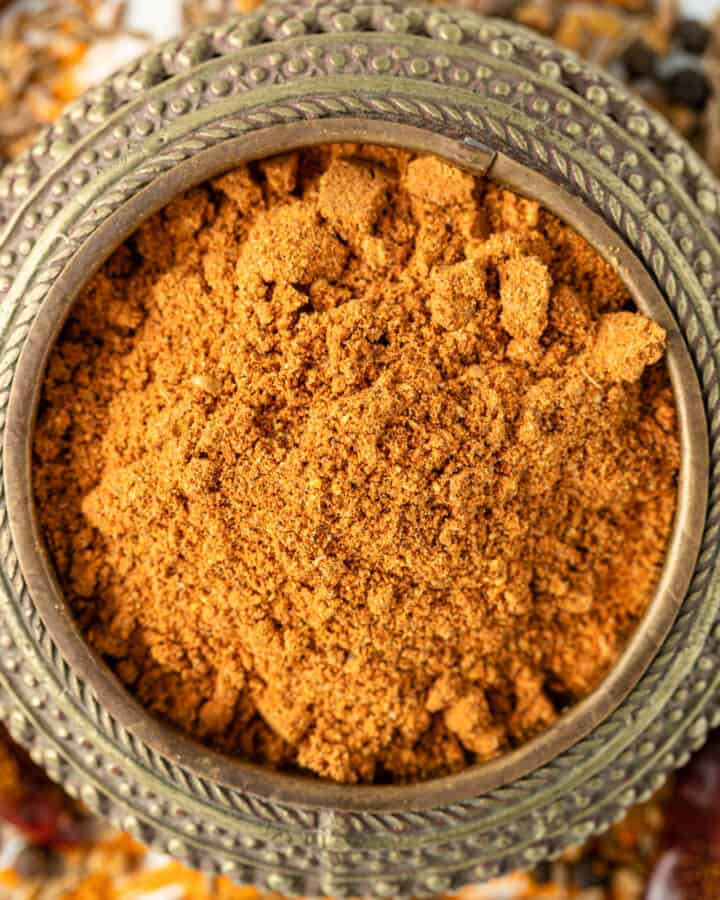 berbere spice mix in small bowl