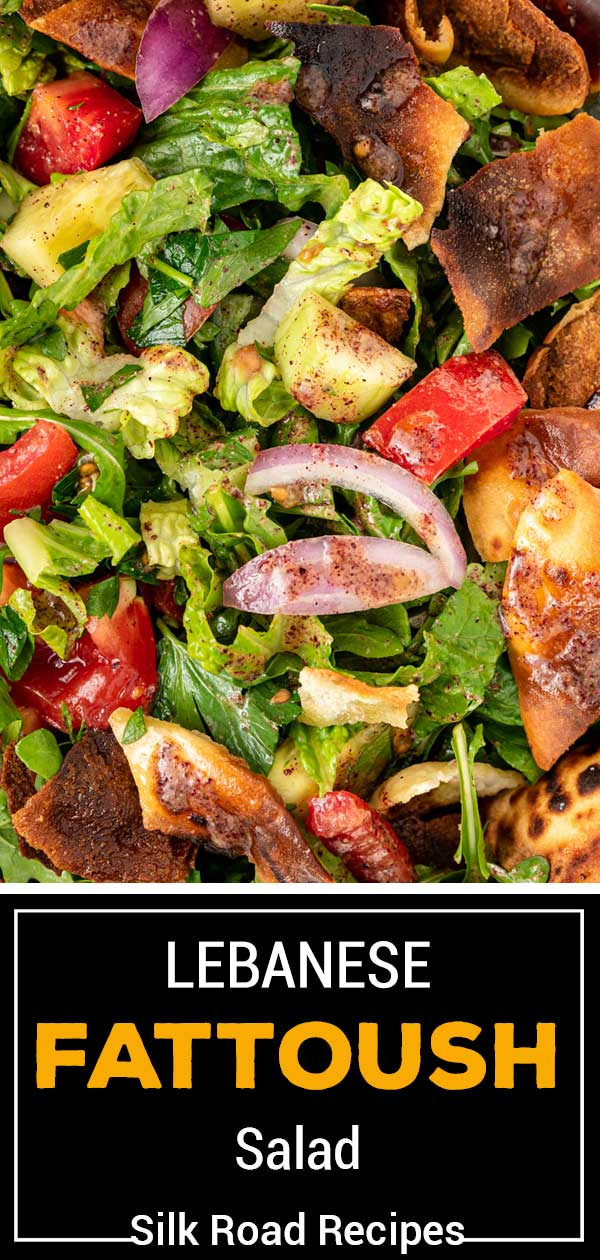 titled image (and shown): Lebanese Fattoush Salad