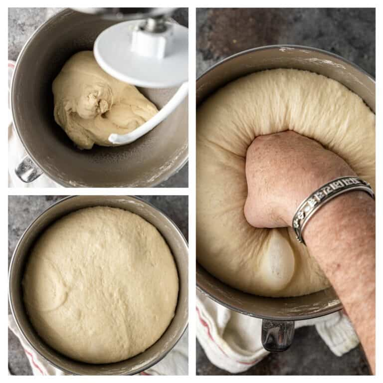 mixing and kneading dough