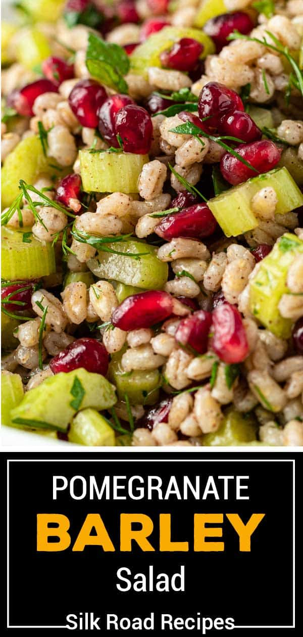 titled image; pomegranate barley salad