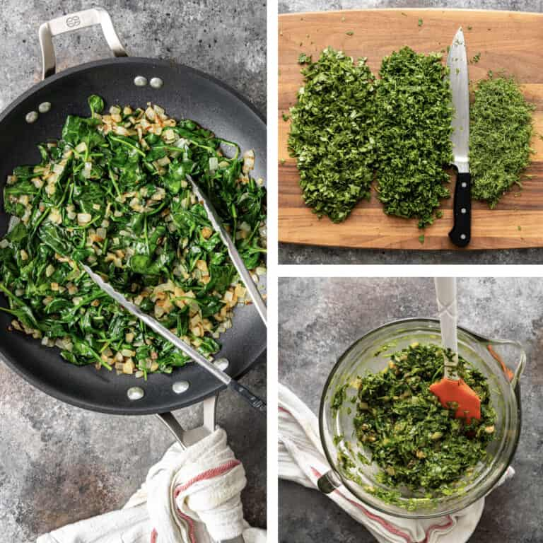 step by step process for cooking kookoo sabzi