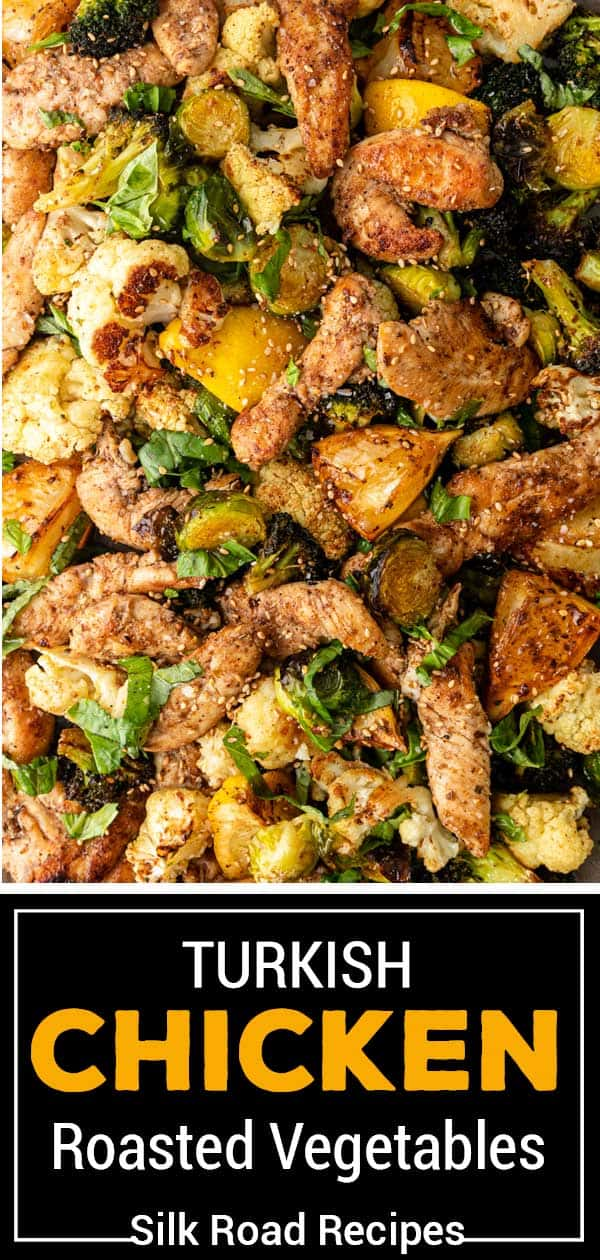 titled image (and shown): Chicken with Turkish Roasted Vegetables