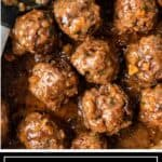 titled image for Pinterest (and shown close up): Koofteh Persian Meatballs- Silk Road Recipes