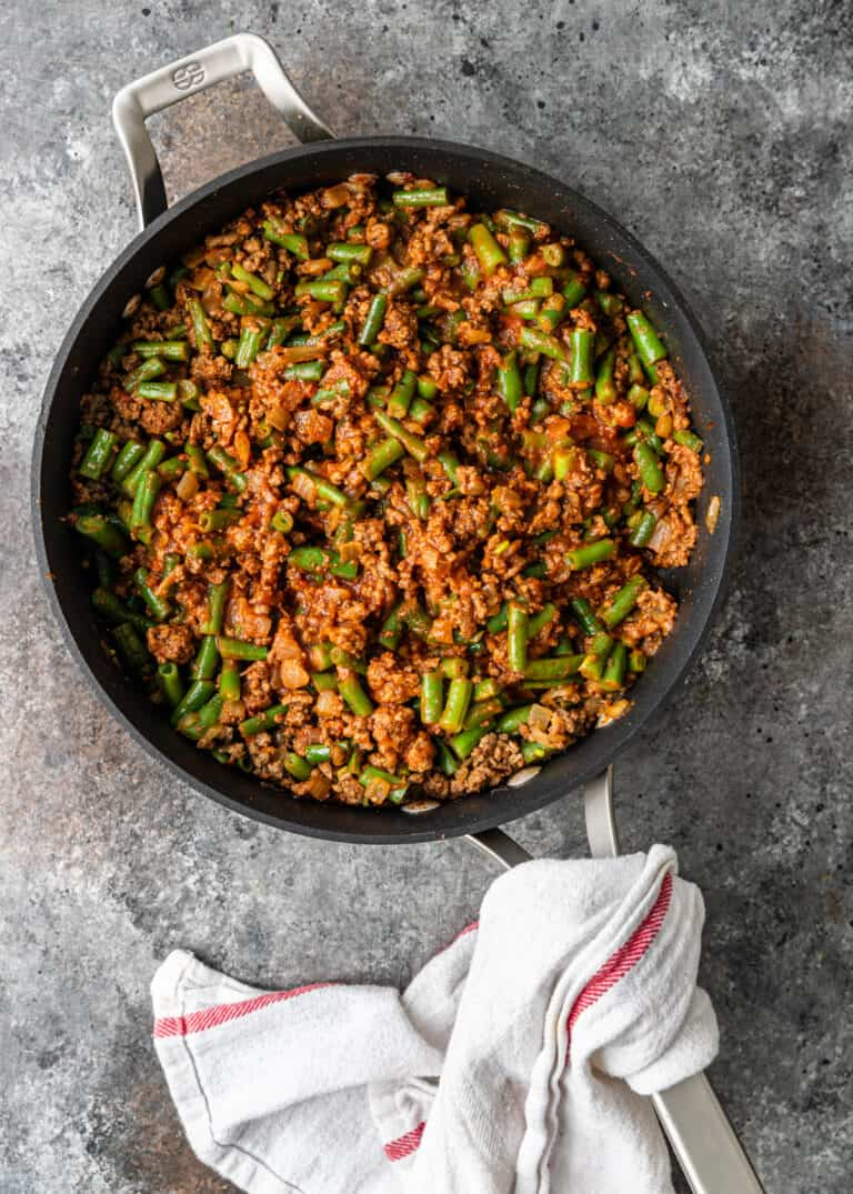 ground beef khoresh with green beans
