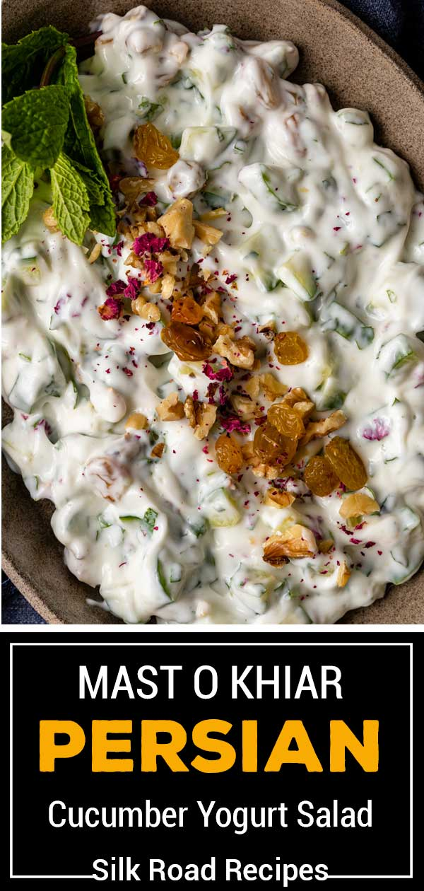 titled Pinterest image (and shown in bowl): Persian Mast O Khiar