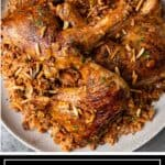 titled image: plate of chicken kabsa with rice