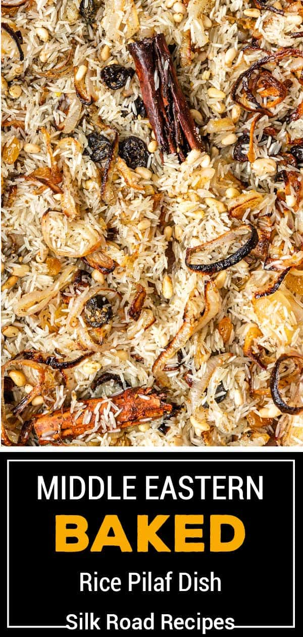 titled photo (and shown): Baked Middle Eastern Rice Pilaf