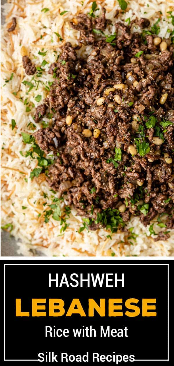 titled image (and shown): Lebanese Rice with Lamb - Hashweh