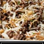 titled image (and shown close up): Hashweh (Lebanese Vermicelli Rice with Meat) - Silk Road Recipes