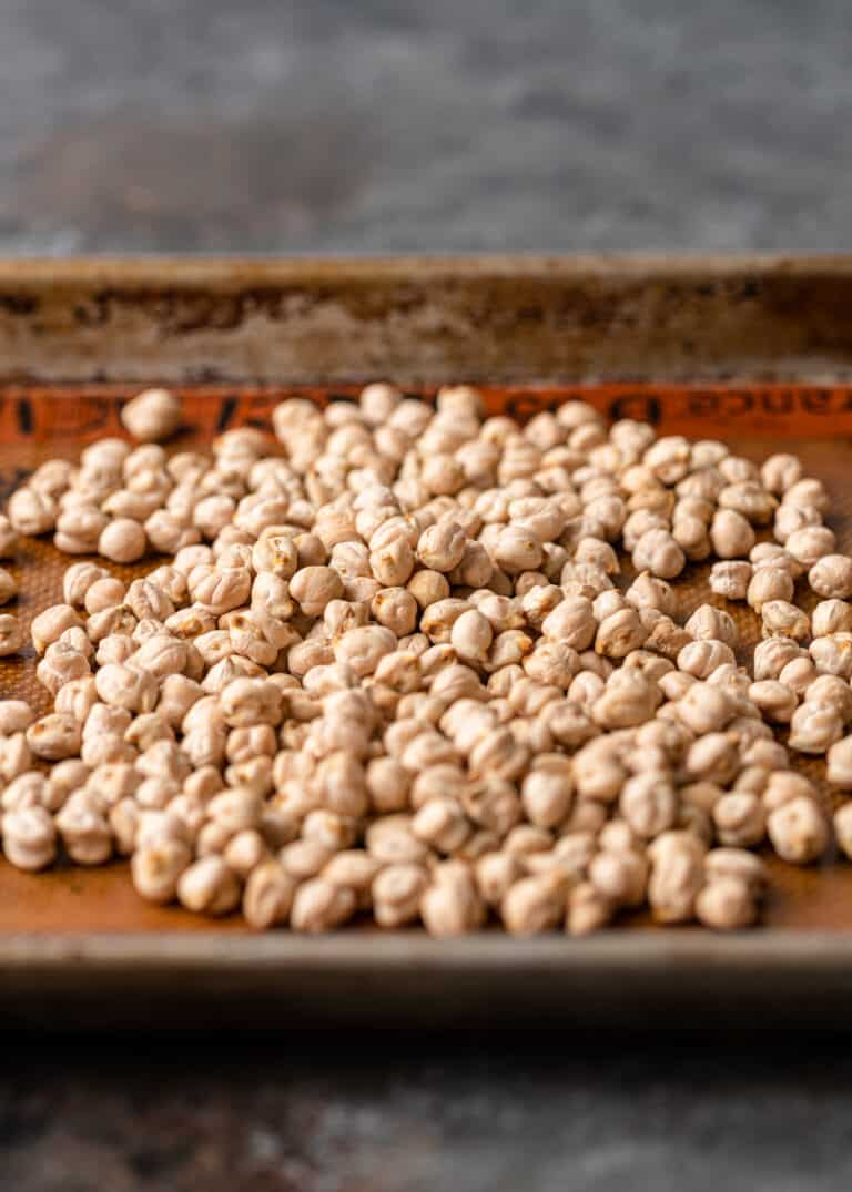 first step of how to cook chickpeas - sorting