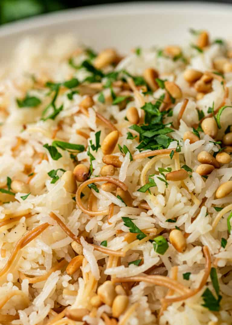 close up: side dish of vermicelli rice