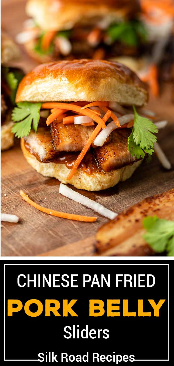 titled image (and shown): Chinese Pan Fried Pork Belly Sliders - Silk Road Recipes