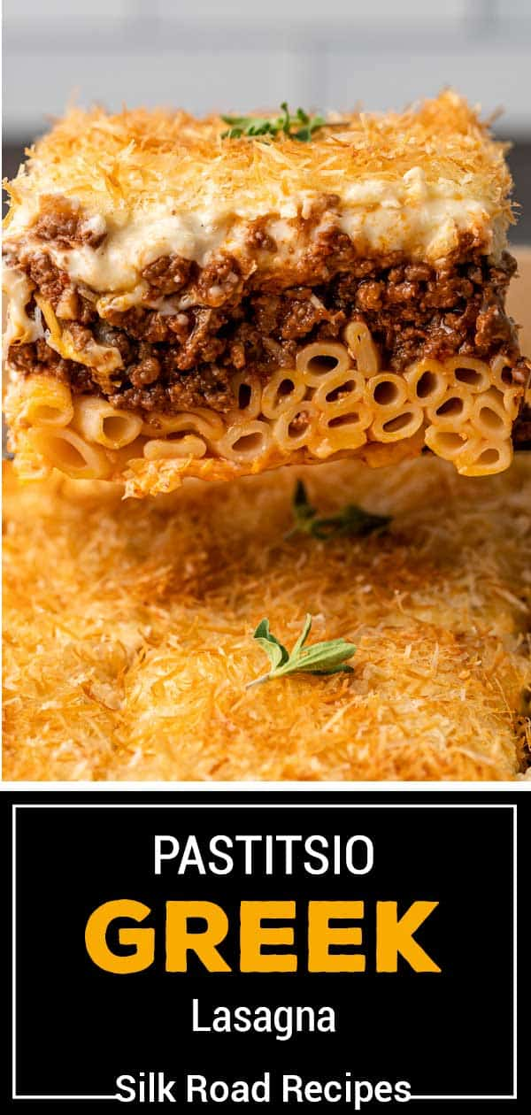 titled image: serving of Greek pasticcio