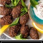 overhead image (titled): kibbeh recipe