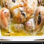 titled image for Pinterest of Thai Lemongrass Chicken