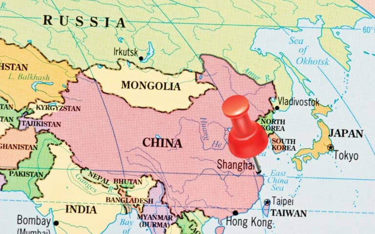 map of china and surrounding countries