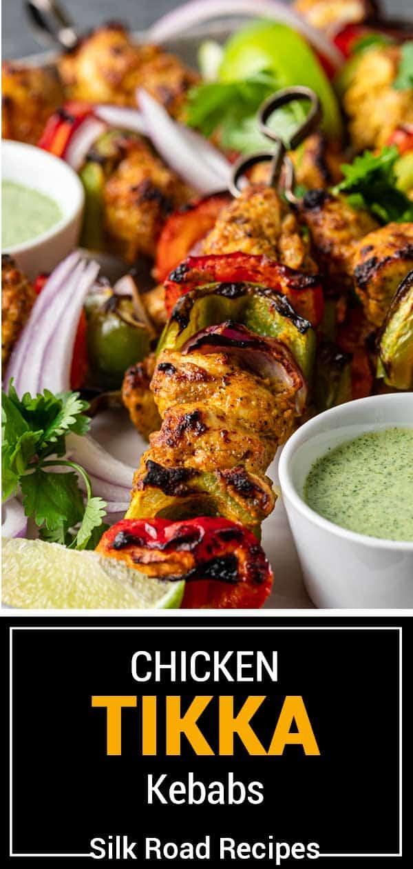 titled image of chicken tikka kebab