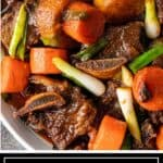 titled image: korean beef ribs with root vegetables