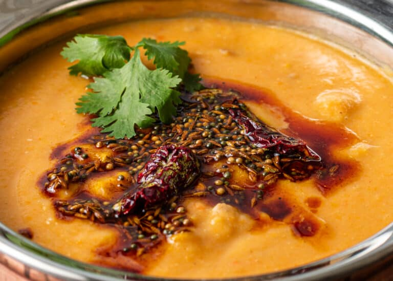 tadka spices on soup top