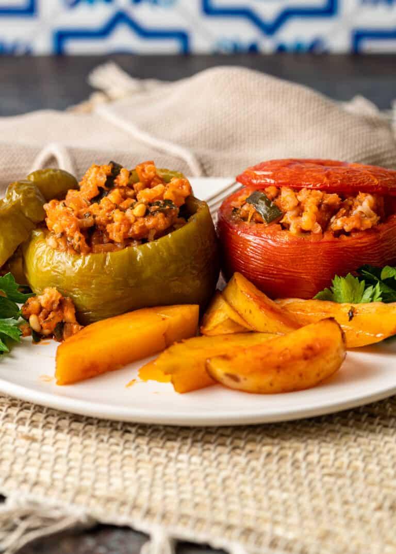 plate of greek yemista