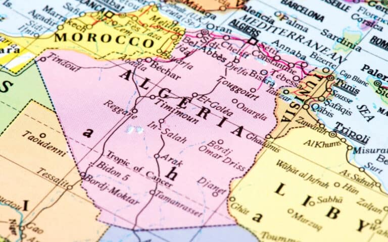 map of morocco and algeria