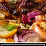 titled image: closeup of five spice chicken and vegetables